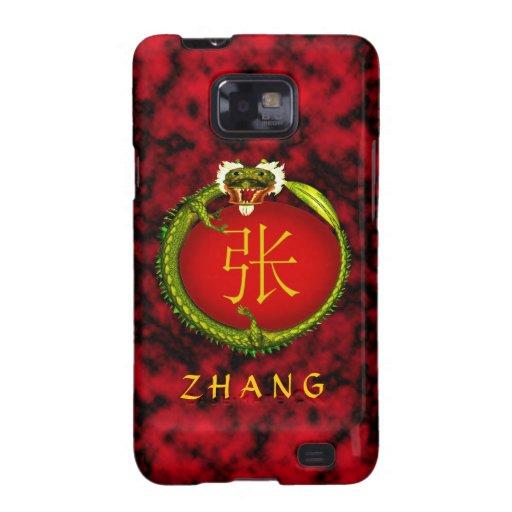 Dragón del monograma de Zhang Samsung Galaxy S2 Funda