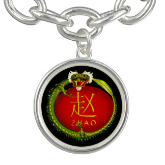 Dragón del monograma de Zhao Pulseras Con Dijer