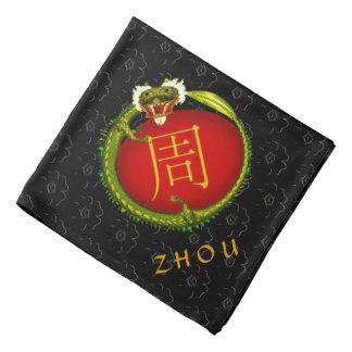Dragón del monograma de Zhou Bandana
