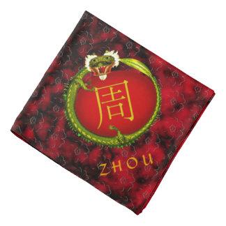 Dragón del monograma de Zhou Bandanas