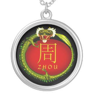 Dragón del monograma de Zhou Colgante Redondo