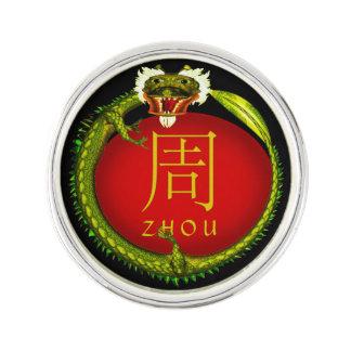Dragón del monograma de Zhou Insignia