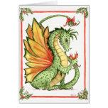 Dragón del muérdago felicitación