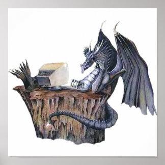 Dragón del ordenador póster