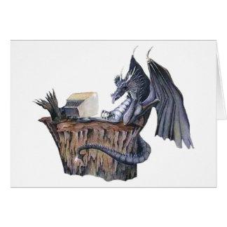 Dragón del ordenador tarjeta de felicitación