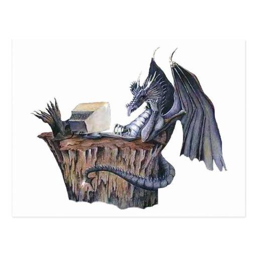 Dragón del ordenador tarjetas postales