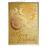 Dragón del oro - tarjeta de felicitación de Yule