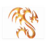 Dragón del oro tarjetas postales