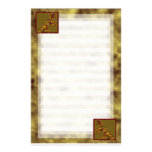 Dragón del oro viejo papelería de diseño