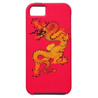 Dragón del oro y del naranja por Año Nuevo chino iPhone 5 Case-Mate Carcasa