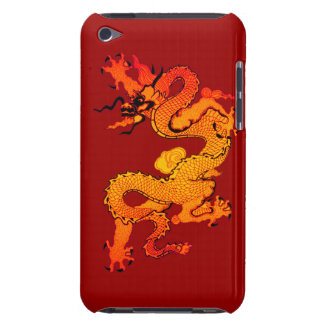 Dragón del oro y del naranja por Año Nuevo chino iPod Case-Mate Fundas