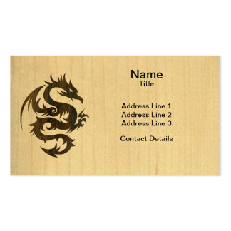Dragón del palo de rosa tarjeta personal