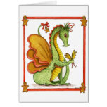 Dragón del pan de jengibre tarjetón