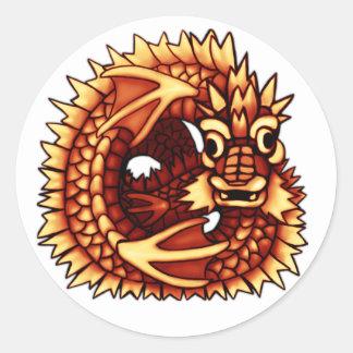 Dragón del pantano pegatina redonda