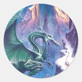 Dragón del pegatina del norte