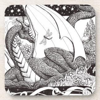 Dragón del prado posavasos de bebidas