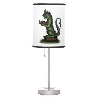 Dragón del ratón de biblioteca lámpara de escritorio