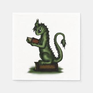 Dragón del ratón de biblioteca servilletas desechables