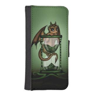 Dragón del reloj de arena funda tipo cartera para iPhone 5