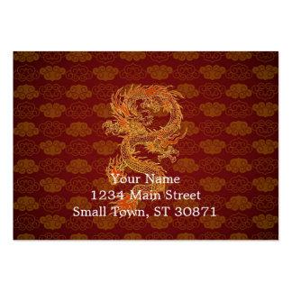Dragón del rojo del chino tradicional tarjetas de visita grandes