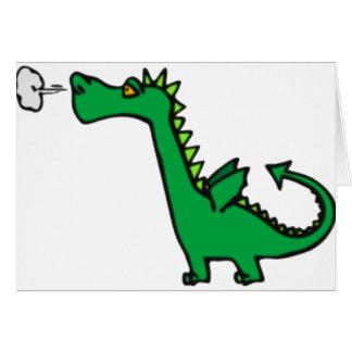 dragón del soplo tarjeta de felicitación