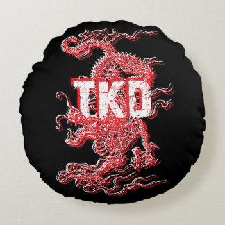 Dragón del Taekwondo Cojín Redondo
