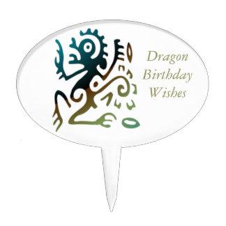 Dragón del tatuaje figuras de tarta