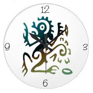 Dragón del tatuaje reloj redondo grande