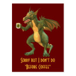 Dragón del té o del café postal