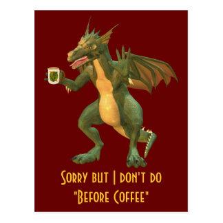 Dragón del té o del café tarjetas postales