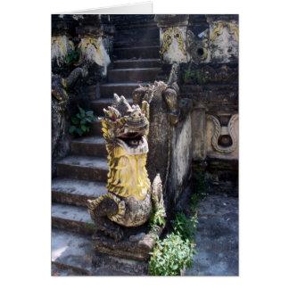 Dragón del templo felicitaciones