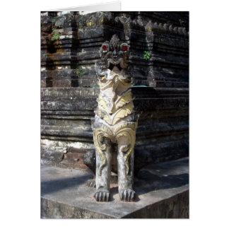 Dragón del templo tarjeta de felicitación