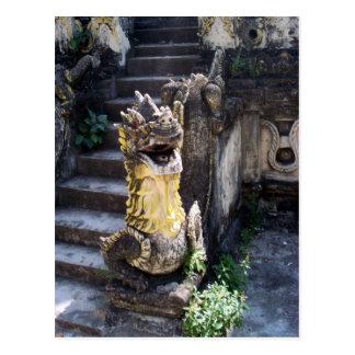 Dragón del templo tarjeta postal