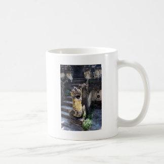 Dragón del templo tazas de café