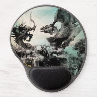 Dragón del vintage contra Phoenix - arte de la pin Alfombrilla De Raton Con Gel