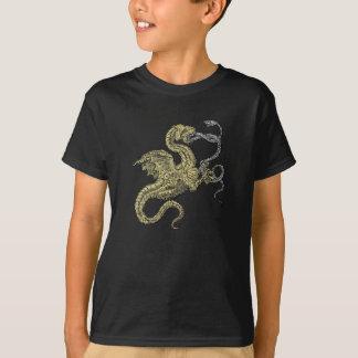 Dragón del Wyvern contra serpiente Playera