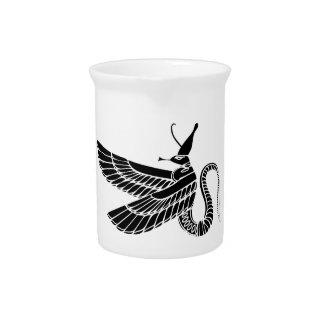 Dragón - demonio de Egipto antiguo Jarra Para Bebida