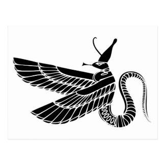 Dragón - demonio de Egipto antiguo Postal
