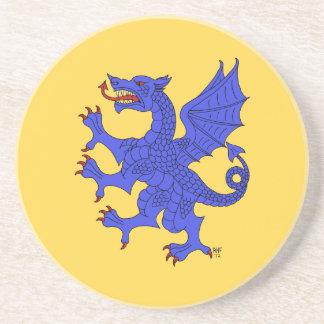 Dragón desenfrenado (azul) posavasos diseño