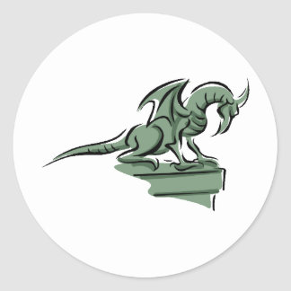 Dragon Design 34 Classic Round Sticker