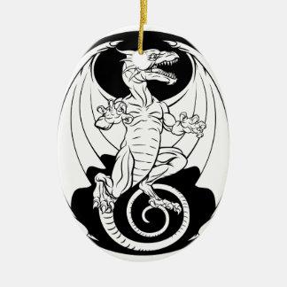 Dragon Design Ceramic Ornament