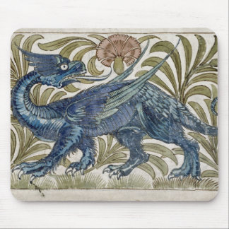 'Dragon' design for a tile (w/c on paper) Mouse Pad
