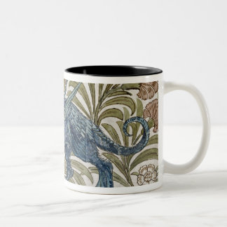 'Dragon' design for a tile (w/c on paper) Two-Tone Coffee Mug