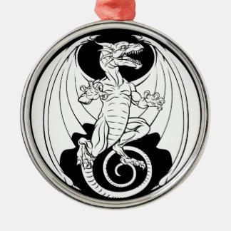 Dragon Design Metal Ornament