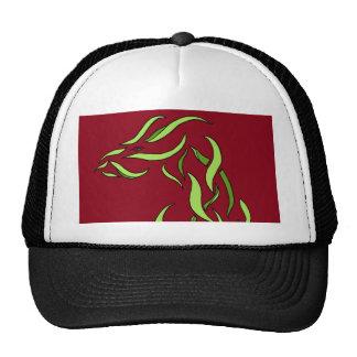 Dragon Dimensional Ribbon Abstract Green Wind Trucker Hat