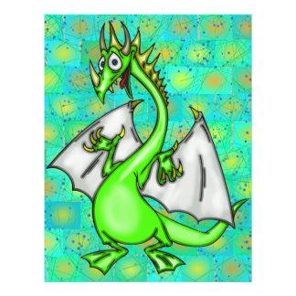 """Dragón divertido folleto 8.5"""" x 11"""""""