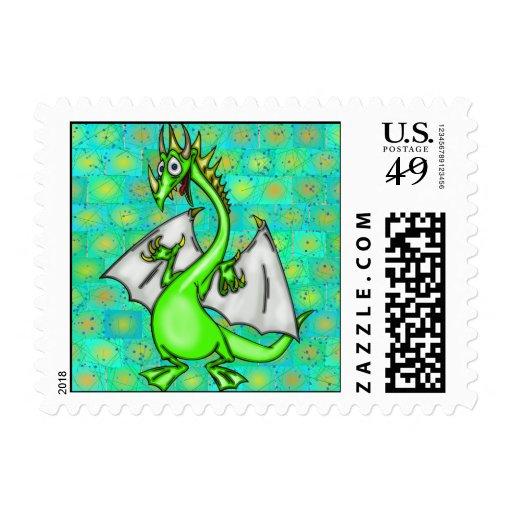 Dragón divertido sello