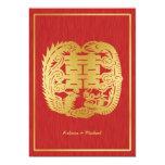 Dragón doble chino de la felicidad/boda de Phoenix Comunicado Personal