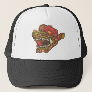 Dragon Dog (Green, Red & Gold) Trucker Hat