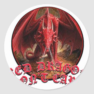 Dragon Dont Care Classic Round Sticker
